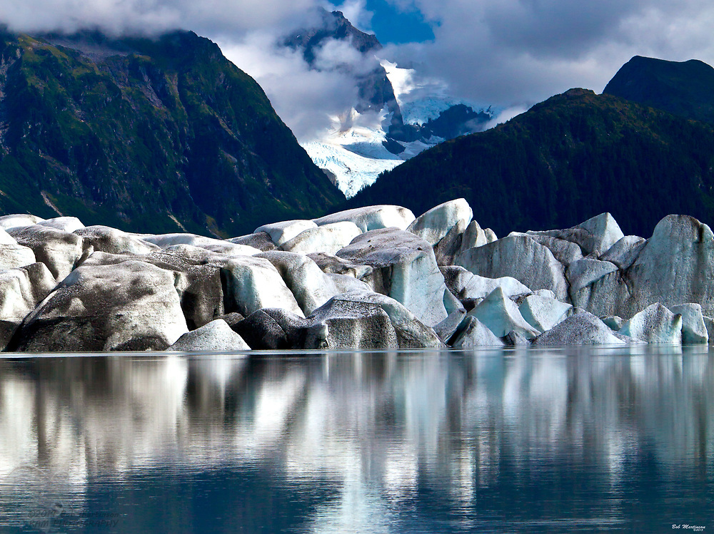 Sheridan Glacier on Alaska's Copper River Delta is a stunning site as it reflects in its own melt waters.