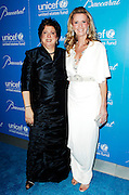 Caryl Stern and Sandra Lee pose at the 2009 UNICEF Snowflake Ball Arrivals in New York City on December 2, 2009.