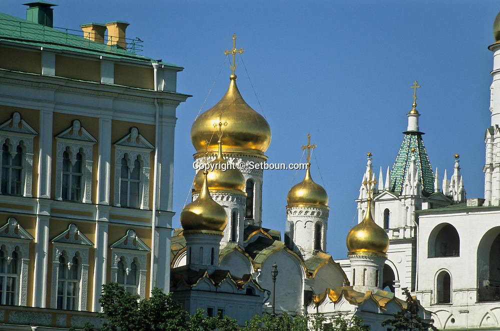 The new rebuilt Chris cathedral covered with gold  Moskow  Russia     /// La  cathédrale du christ sauveur , plus grande de la ville, reconstruite.  Moscou  Urss   ///     L0007107  /  R20202  /  P107925