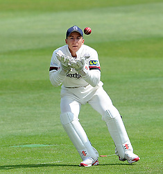 Somerset's Michael Bates - Photo mandatory by-line: Harry Trump/JMP - Mobile: 07966 386802 - 15/06/15 - SPORT - CRICKET - LVCC County Championship - Division One - Day Two - Somerset v Nottinghamshire - The County Ground, Taunton, England.