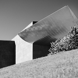 The unique architecture of the Hunter Art Museum in Chattanooga, Tennessee.