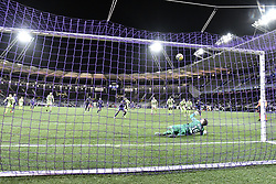 January 27, 2019 - Toulouse, France - Penalty Max Gradel (tfc) vs Ludovic Butelle  (Credit Image: © Panoramic via ZUMA Press)