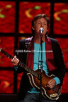 Paul McCartney openning his four night stand at Madison Sqare Garden on Friday, September 30, 2005.