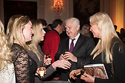 JOANNA BELL; NORMAN LAMONT; MAUREEN BARRYMORE, Launch of book by Basia Briggs, Mother Anguish. The Ritz hotel, Piccadilly. 4 December 2017