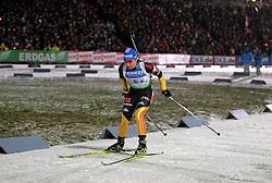 04.01.2012, DKB-Ski-ARENA, Oberhof, GER, E.ON IBU Weltcup Biathlon 2012, Staffel Frauen, im Bild Magdalena Neuner (GER) in der Strafrunde // during relay Ladies of E.ON IBU World Cup Biathlon, Thüringen, Germany on 2012/01/04. EXPA Pictures © 2012, PhotoCredit: EXPA/ nph/ Hessland..***** ATTENTION - OUT OF GER, CRO *****