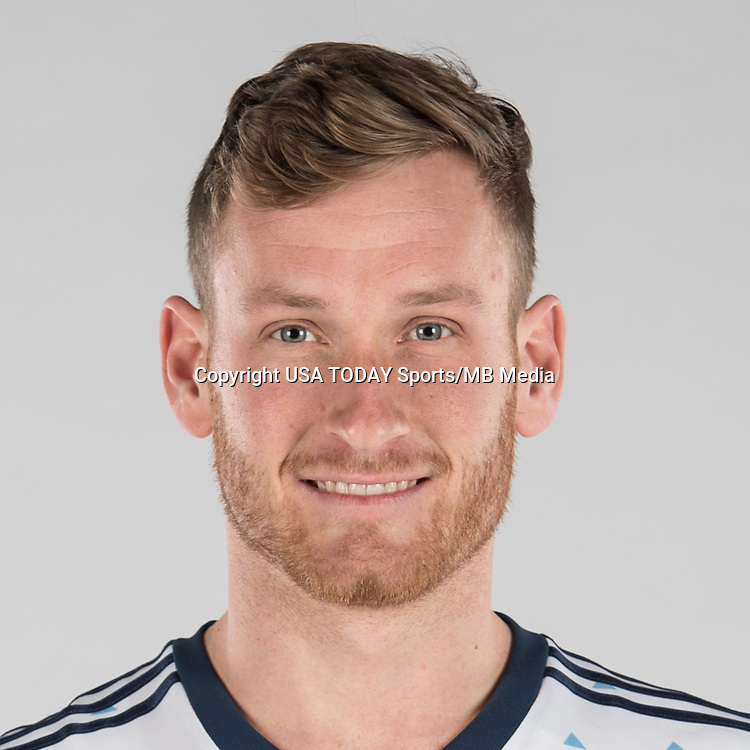 Feb 25, 2017; USA; Vancouver Whitecaps FC player Kyle Greig poses for a photo. Mandatory Credit: USA TODAY Sports