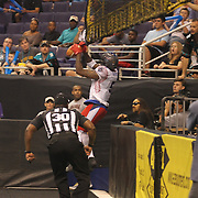 The expansion Arena Football League expansion team, Portland Thunder lost to the eventual AFL Champion Arizona Rattlers 52-48 at US Airways Center, Phoenix, Arizona, in a playoff game.  Photo by Barry Markowitz, 8/3/14