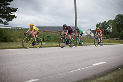 Chloe Hosking (AUS) of Ale-Cipollini Cycling Team and Mieke Kröger (GER) of CANYON//SRAM Racing sits up a bit after the first intermediate sprint line on Stage 1 of the Ladies Tour of Norway - a 101.5 km road race, between Halden and Mysen on August 18, 2017, in Ostfold, Norway. (Photo by Balint Hamvas/Velofocus.com)