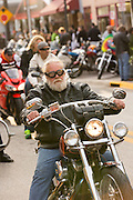 Bikers cruises down Main Street during the 74th Annual Daytona Bike Week March 7, 2015 in Daytona Beach, Florida.