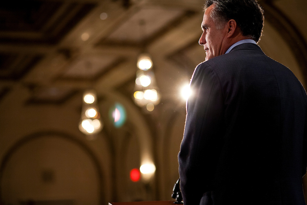 Republican presidential candidate Mitt Romney holds a campaign rally on Tuesday, December 27, 2011 in Davenport, IA.