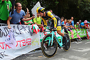 Primoz Roglic (SLO - Team LottoNL - Jumbo) during the 105th Edition of Tour de France 2018, cycling race stage 20, time trial, Saint Pee sur Nivelle - Espelette (31 km) on July 28, 2018 in Espelette, France - Photo Kei Tsuji / BettiniPhoto / ProSportsImages / DPPI