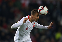 November 20, 2018 - Guimaraes, Guimaraes, Portugal - Thiago Cionek defender of Poland in action during the UEFA Nations League football match between Portugal and Poland at the Dao Afonso Henriques stadium in Guimaraes on November 20, 2018. (Credit Image: © Dpi/NurPhoto via ZUMA Press)