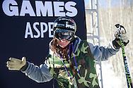 Keri Herman during Women's Ski Slopestyle Practice at the 2013 X Games Aspen at Buttermilk Mountain in Aspen, CO.  Brett Wilhelm/ESPN