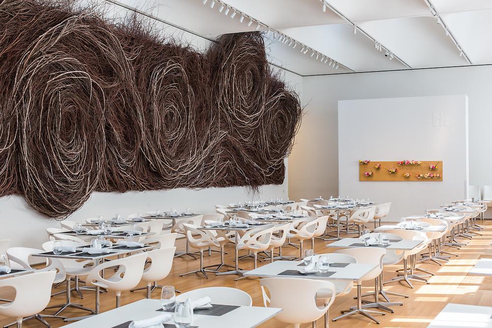 Iris Restaurant inside the North Carolina Museum of Art | Thomas Phifer and Partners, Artist: Patrick Dougherty | Raleigh, North Carolina