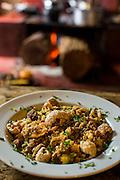 Belo Horizonte_MG, Brasil.<br /> <br /> Detalhe de um prato com feijao tropeiro.<br /> <br /> Details of feijao tropeiro (typical food of Minas Gerais).<br /> <br /> Foto: BRUNO MAGALHAES / NITRO