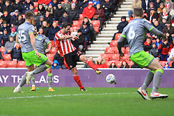 March 16, 2019 - Sunderland, Tyne and Wear, United Kingdom - Sunderland's Will Grigg shoots during the Sky Bet League 1 match between Sunderland and Walsall at the Stadium Of Light, Sunderland on Saturday 16th March 2019. (Credit: Steven Hadlow | MI News) (Credit Image: © Mi News/NurPhoto via ZUMA Press)