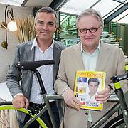NLD/Amsterdam/20120614 - Presentatie wielerblad Tour Express,Louis Bovee en Jacques Hanegraaf
