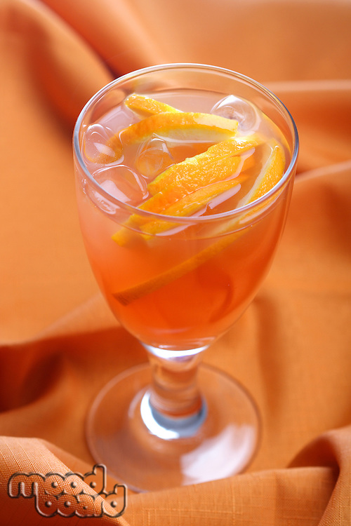 Studio shot of orange drink