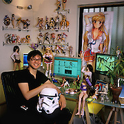 """Danny Choo, born in London in 1972, is one of the most famous and beloved international otaku personalities. He builds websites for a living, including his successful portal site DannyChoo.com, and combines his love of Tokyo, photography and character goods to open a window onto the world of Japanese otaku. In 2009, he solicited contributions from users of his website to compile a photo book about international otaku rooms. This was the first of the Otacool series, which combines """"otaku"""" and """"cool"""" and hopes to change lingering negative perceptions of the culture."""