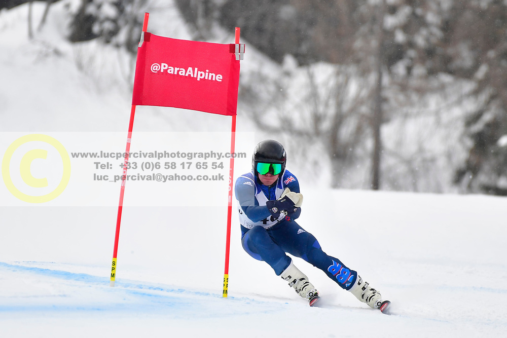 Super Combined and Super G, WHITLEY James, LW5/7-3, GBR at the WPAS_2019 Alpine Skiing World Championships, Kranjska Gora, Slovenia