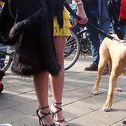 NLD/Amsterdam/20070308 - Stilettorun 2007 Amsterdam, meisje op stiletto hakken