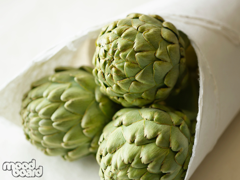 Artichokes in Package close-up