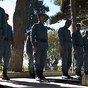 November 14, 2012 - Kabul, Afghanistan: Afghan National Police (ANP) cadets line up for weapon handling training in the yard of the Afghan Nacional Police Academy...ANP Academy trains 1250 cadets at the time during a period of four years. Every year, five hundred new recruits are selected, out of more than nine thousand of candidates, to join the academy and other five hundred graduate. Fifteen per cent of the recruits are women. (Paulo Nunes dos Santos)