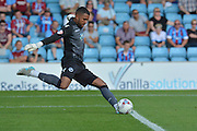 Jordan Archer  during the Sky Bet League 1 match between Scunthorpe United and Millwall at Glanford Park, Scunthorpe, England on 22 August 2015. Photo by Ian Lyall.