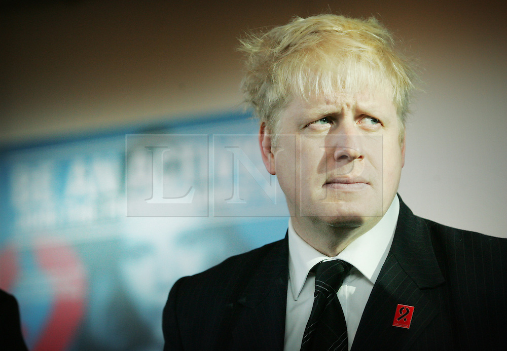 © under license to London News Pictures.  29/11/10 Boris Johnson unveils the Body Shop 'Be An Activist. Join the Fight Against Aids' exhibition, featuring photography by Rankin to mark World AIDS day at City Hall. Photo credit should read: Olivia Harris/ London News Pictures