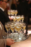 Champagne served at a French party