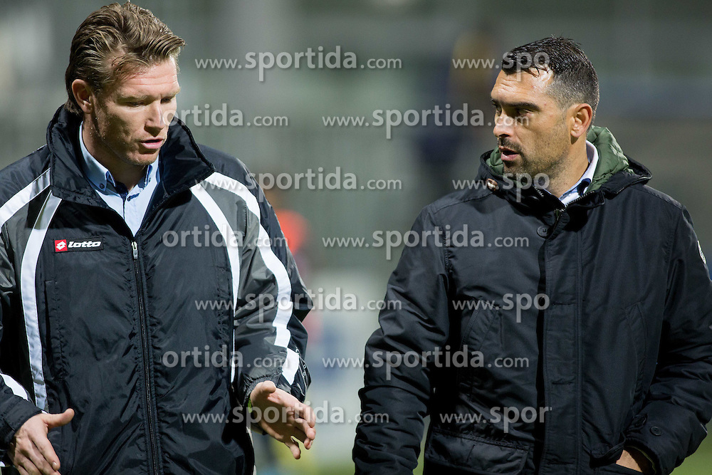 Matej Mavric and Alen Sculac of Koper during football match between FC Luka Koper and NK Krka in 16th Round of Prva liga Telekom Slovenije 2014/15, on November 2, 2014 in Stadium Bonifika, Koper, Slovenia. Photo by Vid Ponikvar / Sportida