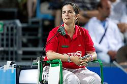 Referee Raffaella Seri of Italy at the first semifinal match of Singles at Banka Koper Slovenia Open WTA Tour tennis tournament, on July 24, 2010 in Portoroz / Portorose, Slovenia. (Photo by Vid Ponikvar / Sportida) / SPORTIDA PHOTO AGENCY