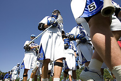 06 May 2007: Duke Blue Devils midfielder Matt Wilson (21) and midfielder Peter Lamade (5) in a 19-6 victory over the Air Force Falcons at Koskinen Stadium in Durham, NC.