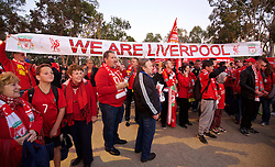ADELAIDE, AUSTRALIA - Monday, July 20, 2015: Liverpool supporters march to the stadium ahead of a preseason friendly match against Adelaide United at the Adelaide Oval on day eight of the club's preseason tour. (Pic by David Rawcliffe/Propaganda)