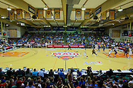 November 24 2015: Kansas Jayhawks and UCLA Bruins compete in a semi final match up during the Maui Invitational at  Lahaina Civic Center on Maui, HI. (Photo by Aric Becker)
