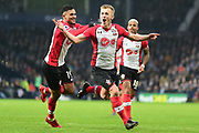 Southampton midfielder James Ward-Prowse (16) scores a goal and celebrates 1-3 during the Premier League match between West Bromwich Albion and Southampton at The Hawthorns, West Bromwich, England on 3 February 2018. Picture by Dennis Goodwin.
