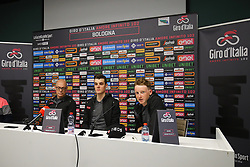 Foto Filippo Rubin/LaPresse <br /> 09 maggio 2019 Bologna (Italia)<br /> Sport Ciclismo<br /> Giro d'Italia 2019 - edizione 102 - Conferenza Stampa Team.<br /> Nella foto: Team Ineos.Dave Brailsford Team Manager, SIVAKOV Pavel, GEOGHEGAN HART Tao<br /> <br /> Photo Filippo Rubin/LaPresse<br /> May 09, 2019  Bologna (Italy)  <br /> Sport Cycling<br /> Giro d'Italia 2019 - 102th edition - Team Press Conference .<br /> In the pic: Team Ineos.Dave Brailsford Team Manager, <br />  SIVAKOV Pavel, GEOGHEGAN HART Tao