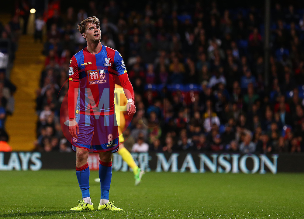 Patrick Bamford of Crystal Palace looks dejected - Mandatory byline: Paul Terry/JMP - 07966386802 - 25/08/2015 - FOOTBALL - Selhurst Park -London,England - Crystal Palace v Shrewsbury town - Capital One Cup - Second Round