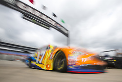 April 6, 2018 - Ft. Worth, Texas, United States of America - April 06, 2018 - Ft. Worth, Texas, USA: Ricky Stenhouse, Jr (17) comes in from practice for the O'Reilly Auto Parts 500 at Texas Motor Speedway in Ft. Worth, Texas. (Credit Image: © Stephen A. Arce Asp Inc/ASP via ZUMA Wire)