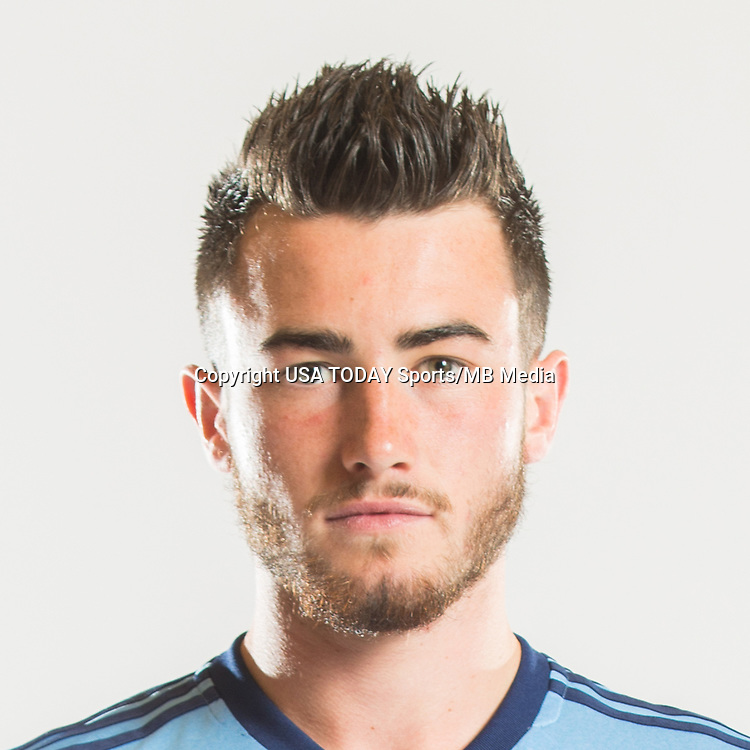 Feb 25, 2017; USA; New York City FC player Jack Harrison poses for a photo. Mandatory Credit: USA TODAY Sports