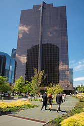USA, Washington, Bellevue. City Center Building in downtown Bellevue.