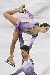 February 8, 2018 - Pyeongchang, South Korea - MATTEO GUARISE and NICOLE DELLA MONICA of Italy compete Friday, February 9, 2018, in the Pairs Short Program Team event event on opening day of the Figure Skating Team competition at the Winter Olympic Games in at the Gangneung Ice Arena in Pyeongchang, S. Korea. Photo by Mark Reis, ZUMA Press/The Gazette (Credit Image: © Mark Reis via ZUMA Wire)