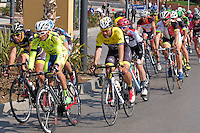 Semi-professional cycle racing, San Pedro de Alcantara, Marbella, Malaga, Province, Spain, March 2015. 201503140586<br />
