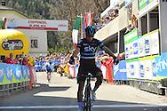 40° Giro del Trentino Melinda 2a tappa Arco- Anrass 220km, a  Landa Meana Mikeal,20 Aprile 2016 © foto Remo Mosna\Daniele Mosna
