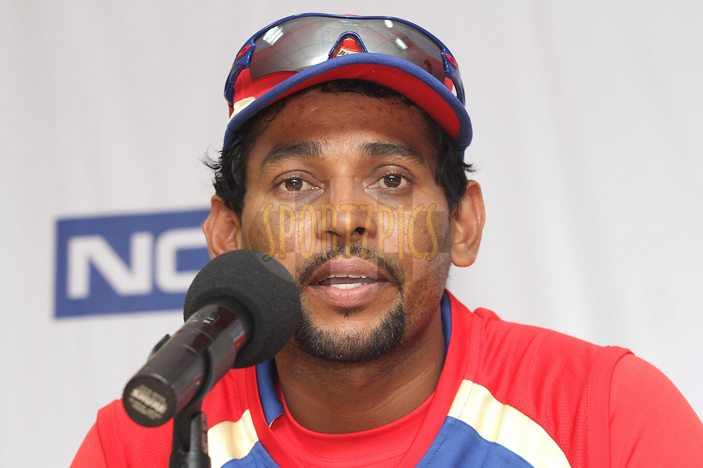 Tillakaratne Dilshan of Royal Challengers Bangalore during the Royal Challengers Bangalore press conference held at the  M.Chinnaswamy Stadium in Bangalore , Karnataka, India on the 2nd October 2011..Photo by Shaun Roy/BCCI/SPORTZPICS