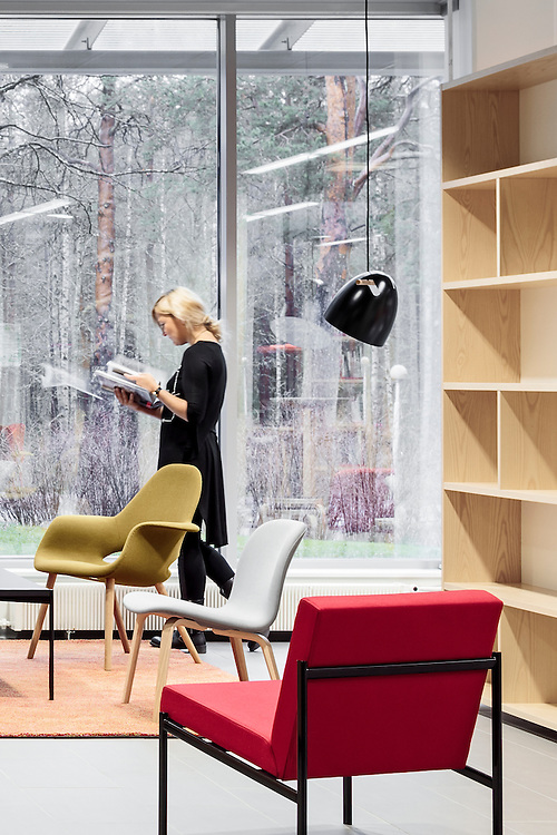 University of Lapland F-block interior, designed by Suvi-Maria Silvola & Laura Seppänen in Rovaniemi, Finland