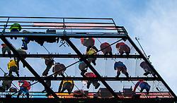 01.01.2013, Olympiaschanze, Garmisch Partenkirchen, GER, FIS Ski Sprung Weltcup, 61. Vierschanzentournee, Training, im Bild Trainertrum von unten // Coaches Tower from down during practice Jump of 61th Four Hills Tournament of FIS Ski Jumping World Cup at the Olympiaschanze, Garmisch Partenkirchen, Germany on 2013/01/01. EXPA Pictures © 2012, PhotoCredit: EXPA/ Juergen Feichter