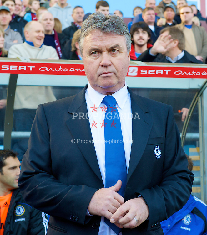BIRMINGHAM, ENGLAND - Saturday, February 21, 2009: Chelsea's new manager Guss Hiddink takes charge for his first game on the touch-line during the Premiership match against Aston Villa at Villa Park. (Photo by David Rawcliffe/Propaganda)