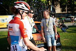 Boels Dolmans team manager, Danny Stam at La Course by Le Tour de France 2018, a 112.5 km road race from Annecy to Le Grand Bornand, France on July 17, 2018. Photo by Sean Robinson/velofocus.com
