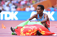 Ghirmay Ghebreslassie (ERI) competes and wins on Men's Marathon Final during the IAAF World Championships, Beijing 2015, at the National Stadium, in Beijing, China, Day 1, on August 22, 2015 - Photo Stephane Kempinaire / KMSP / DPPI